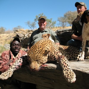 Brad Smith from Texas with Monster Leopard in Namibia