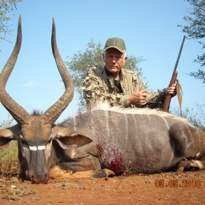 31 inch Nyala hunted with Leeukop Safaris Zululand