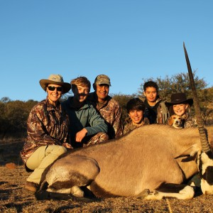 Noah's Gemsbok and the family at Huntershill Safari