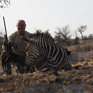 Hunt Zebra in Namibia