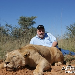 Female Lion hunted in South Africa