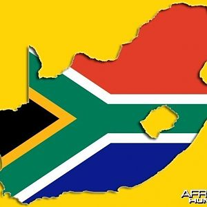 Flag Map South Africa
