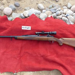 416 Rigby Ruger Safari Magnum Rifle with Leupold 1.5x5 VXIII in Alaska Arms QD rings