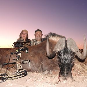Black Wildebeest Bow Hunting in South Africa