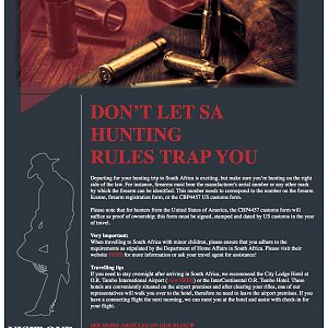 Don't Let South Africa Hunting Rules Trap You!