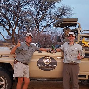 After a great day of hunting in the Kalahari