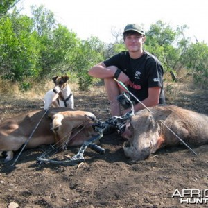My Sons First Bow Hunt - Warthog and Impala