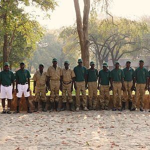 Lodge & hunting team in Zambia