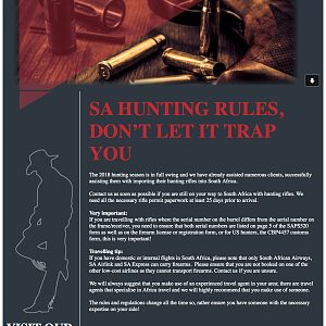 South Africa Hunting Rules Don't Let It Trap You