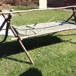 1883 Era Black Powder Hunt Camp Sleeping Set Up