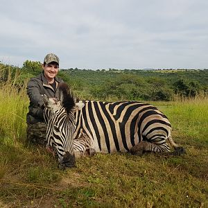 Hunting Burchell's Plain Zebra in South Africa