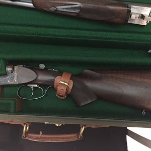 William Douglas and sons .470 NE Double Rifle in case