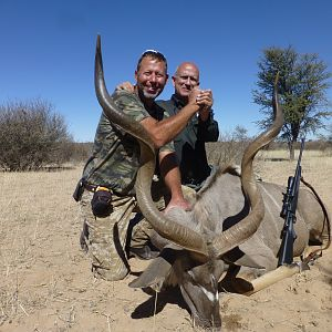 "Namibia Hunting 49.5"" Inch Three Horn Kudu"