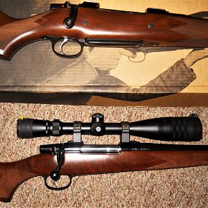 6.5x55 and a .375 H&H Mag Rifles
