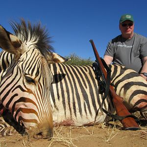 Hunting Hartmann's Moutain Zebra in Namibia