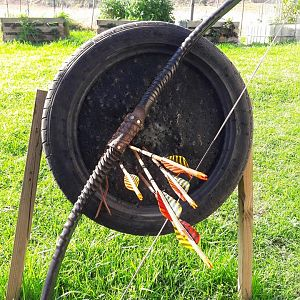 Gemsbok Horn Primitive Bow