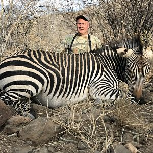 Hartmann's Mountain Zebra Bow Hunt Namibia