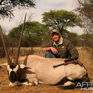Hardus with my bull gemsbok, South Africa