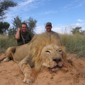 Hunting Lion in South Africa