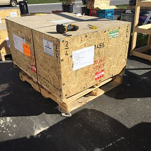 Trophies Crate Shipment