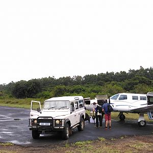 Collecting hunters from Air Charter