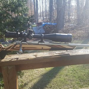 5.5-20x56 Scope mounted on a 28 Nosler Custom Rifle