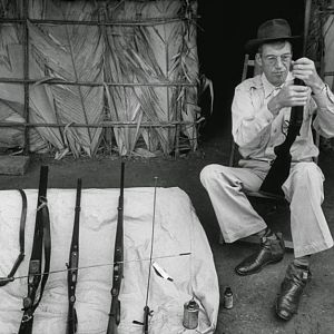 John Huston while in Africa to shoot The African Queen