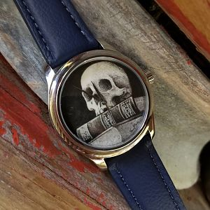 Scrimshaw Art on a watch