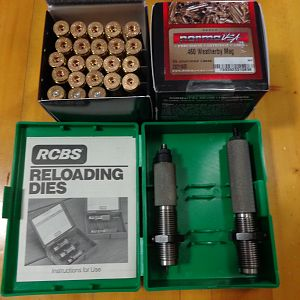 .460 Weatherby RCBS Die Set & 45 Norma Unfired Cases