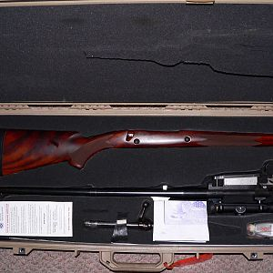 Hunting Rifle packed in Pelican Case