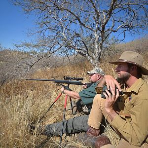 Hunting with Shooting Sticks & Glassing Game Namibia