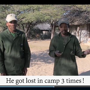 Training African Trackers the American way.