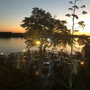 David Livingstone Safari Lodge and Spa situated  on the Zambezi river