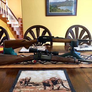 BLR in 358 Winchester Rifle & 1980 Marlin 375 Winchester Rifle