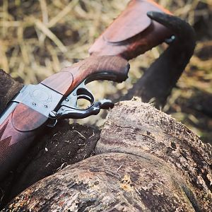 Single shot .450-400 Classic used on a Buffalo hunt in Mozambique