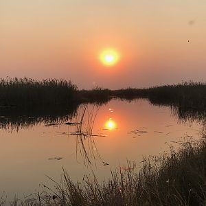 Sunset over the Caprivi