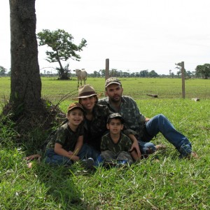 Me and my family on a chase from Buffalo in Brazil