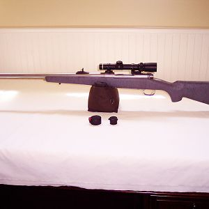 Winchester Model 70 Classic Stainless Safari Express Rifle chambered in .375 H&H