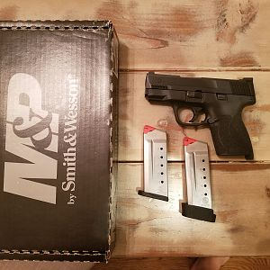 S&W Shield 45 Pistol With Night Sights & Holster