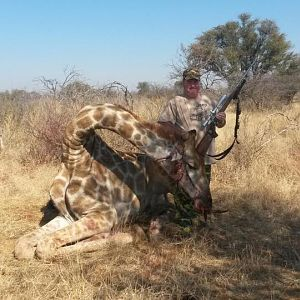 South Africa Hunting Giraffe