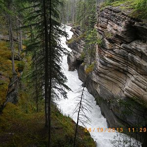Athabasca Falls in Jasper National Park Canada