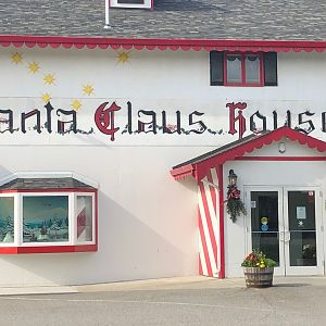Visiting Santa's House in North Pole Alaska