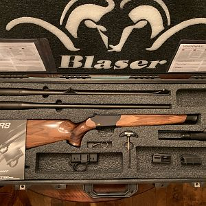 Blaser R8 Jaeger Rifle with 300 Win Mag & 375 H & H barrels