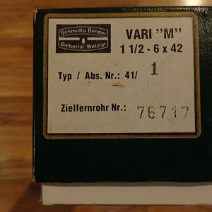 "Schmidt & Bender VARI ""M"" 1.5-6x42 #1 Reticle"