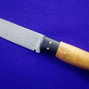 Hunter Skinner Knife with Cherry BurI over BuffaIo Horn boIster