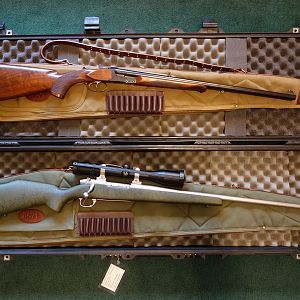 Plains Game Rifle and a Dangerous Game Rifle