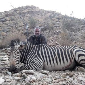 South Africa Hunting Hartmann's Mountain Zebra