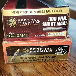 200 Grain Magnum .300 Federal Edge TLR & Federal 180 grain Trophy Bonded .300 Magnum