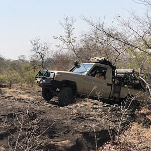 Hunting Vehicle in Zimbabwe