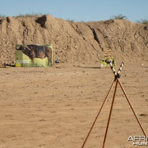 In the AZ desert practicing before my Zimbabwe hunt